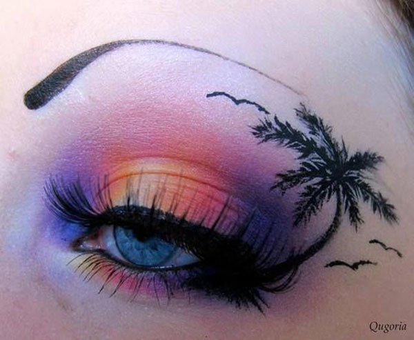 palm tree eye makeup