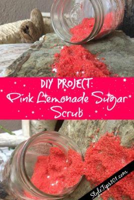 pink lemonade sugar scrub
