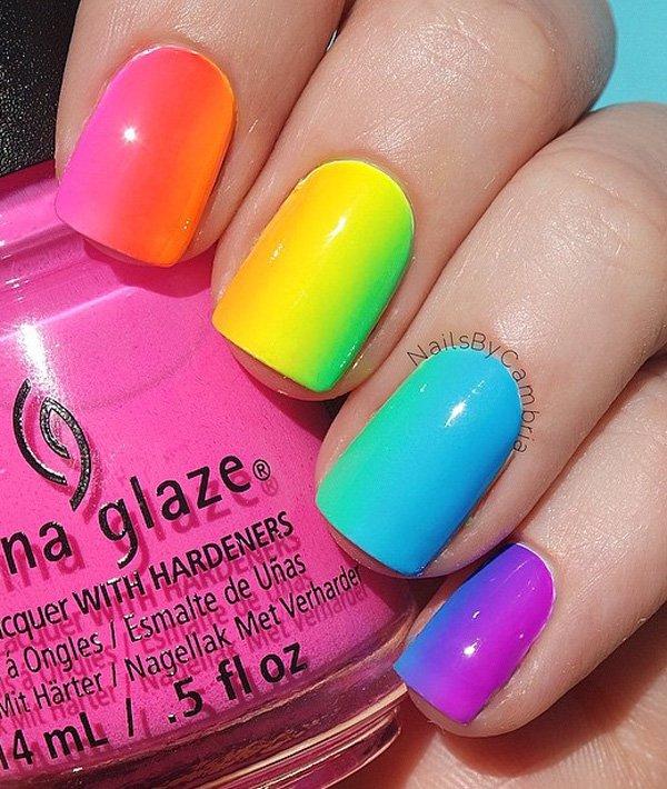 Rainbow Nail Art Designs: 25+ Rainbow Nail Art Ideas That Are Perfect For Summer