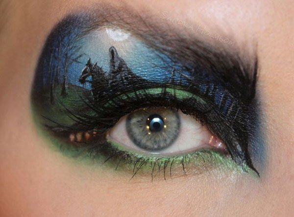 rider in the night makeup