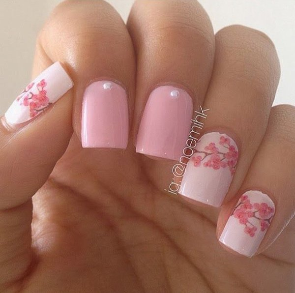 spring nail art 2 - 25 + Short Nail Designs That Are Perfect For Spring And Summer