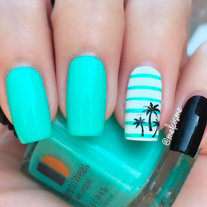 20 Tropical Nail Designs for the Summer