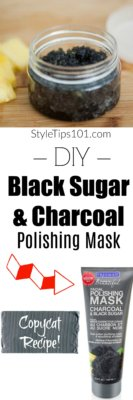 DIY Black Sugar and Charcoal Polishing Mask