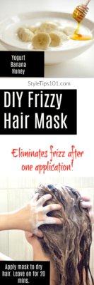 DIY Frizzy Hair Mask
