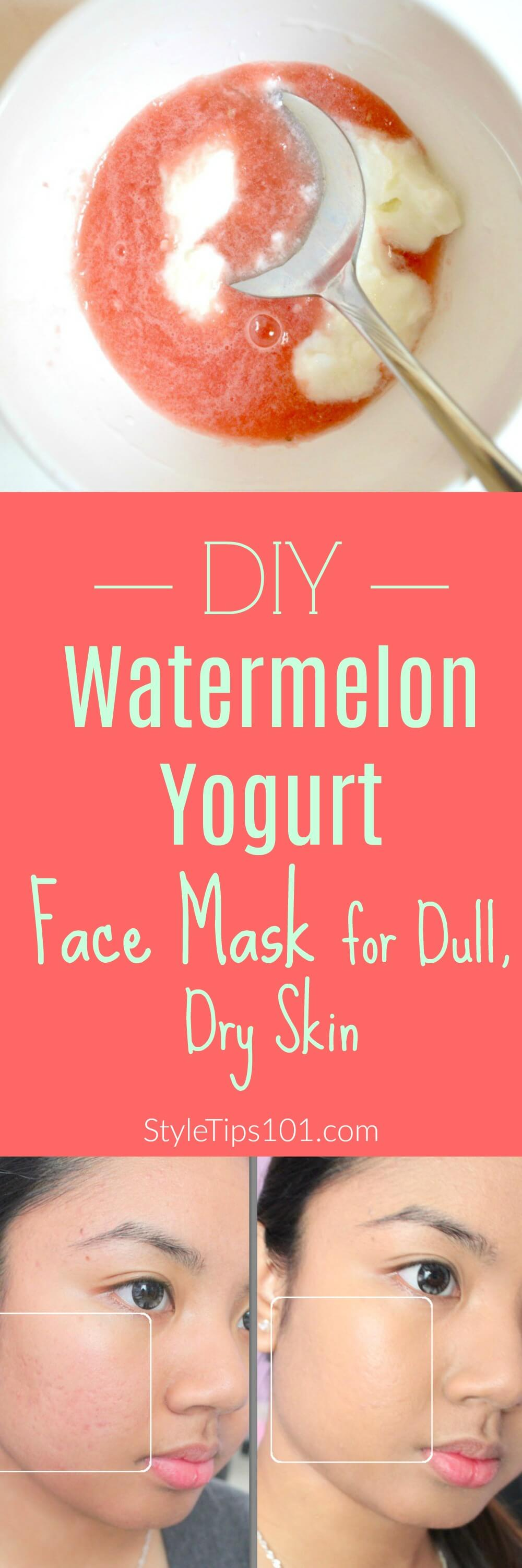DIY Watermelon Face Mask For Dry, Dull Skin