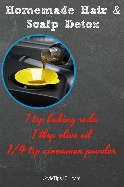 1 tsp baking soda 1 tbsp olive oil 1/4 tsp cinnamon powder