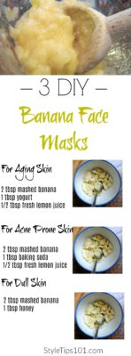 banana face masks
