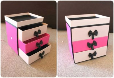 box makeup storage