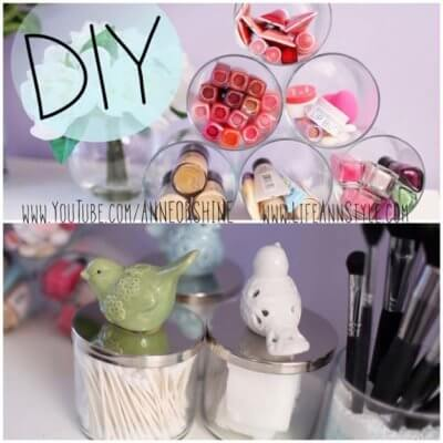 candle jar makeup holder