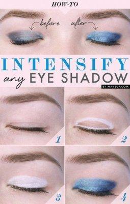 eyeshadow against white eyeliner