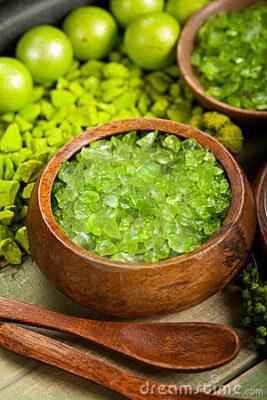 green bath salts
