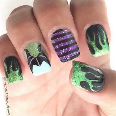 maleficent nails