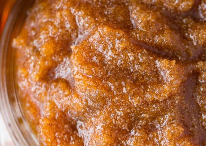 DIY Maple Almond Sugar Scrub
