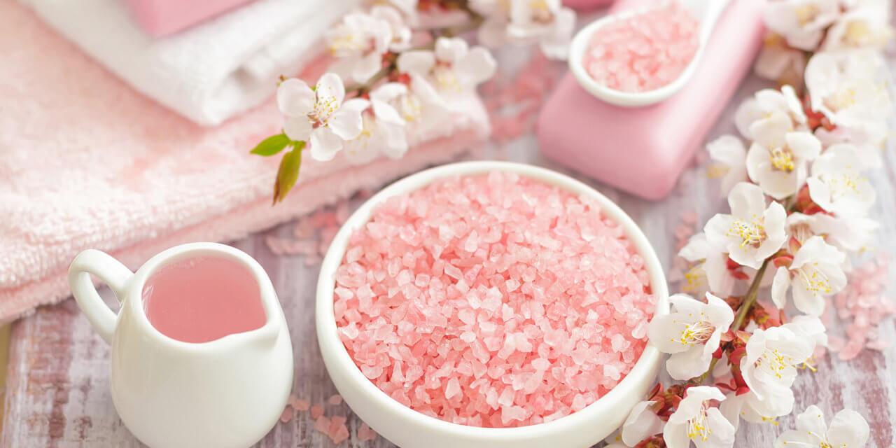 DIY Himalayan Pink Salt Scrub