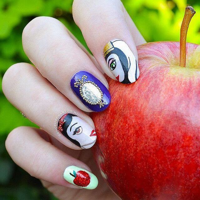 Snow White Nails: 21 Disney Nail Designs To Fall In Love With