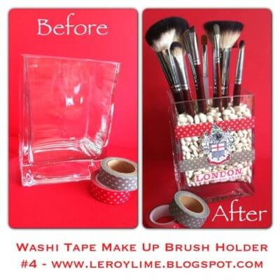 washi tape brush holder