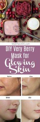 DIY Berry Yogurt Mask