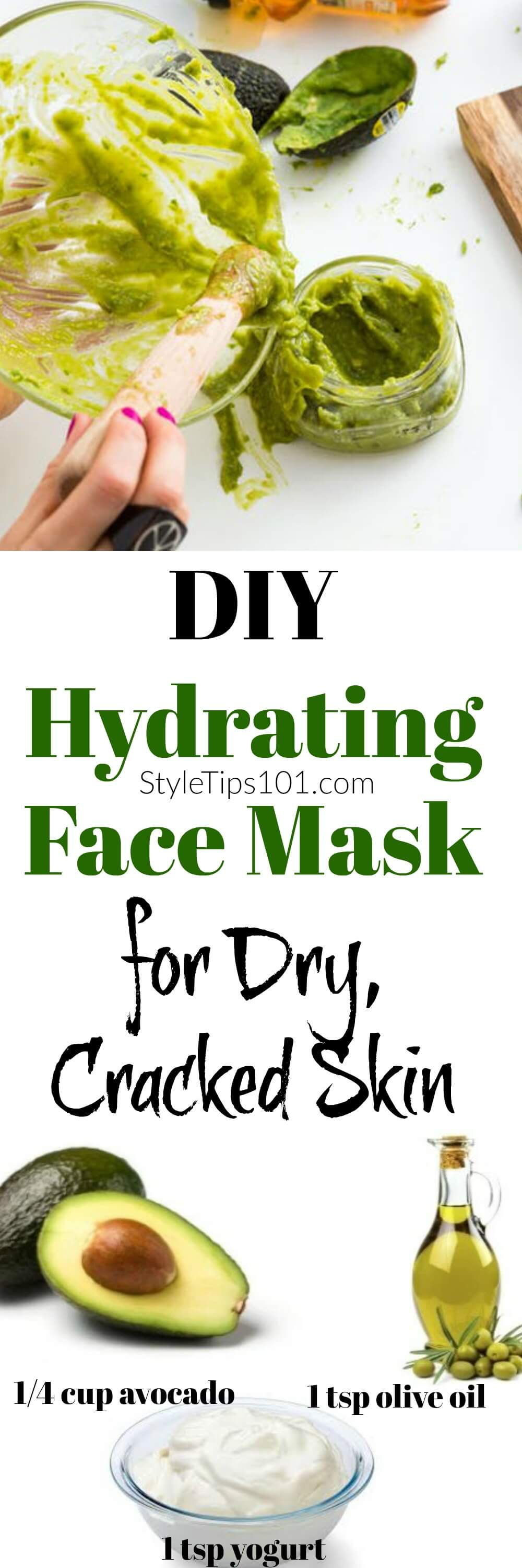 For those of you who suffer from dry skin, this DIY hydrating face mask with avocado & yogurt will hydrate and moisturize even the driest of skin.