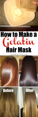 How to Make a Gelatin Hair Mask