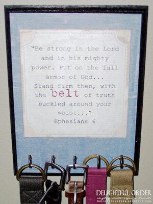 diy belt holder