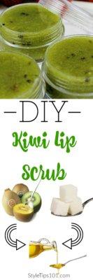 diy kiwi lip scrub