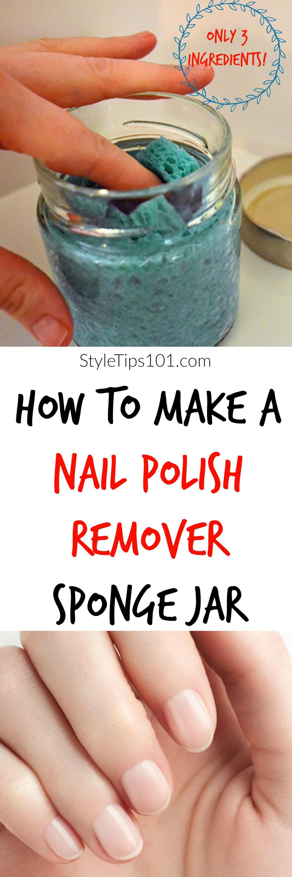 With only 3 ingredients, this DIY nail polish remover sponge will be the easiest and fastest DIY beauty project you\'ve ever made!