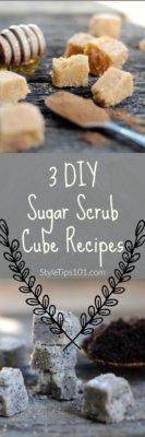 homemade sugar scrub cubes