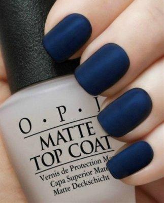 navy matte nail designs