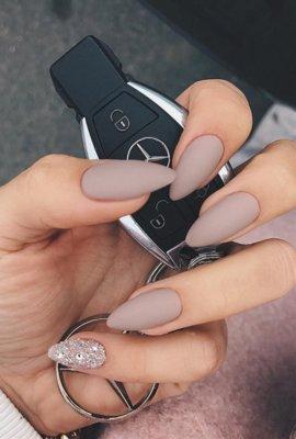 nude matte nail designs