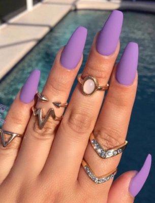 purple matte nail designs