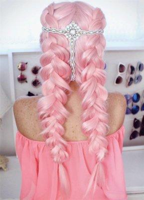 pink hair 23