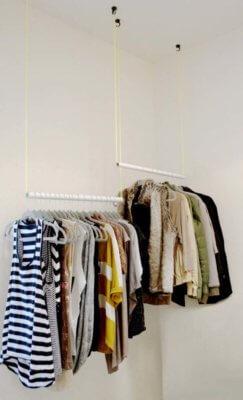sleek hanging rods