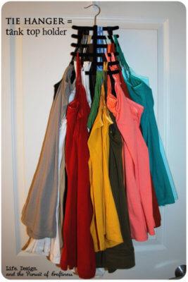 tie hanger tank top holder