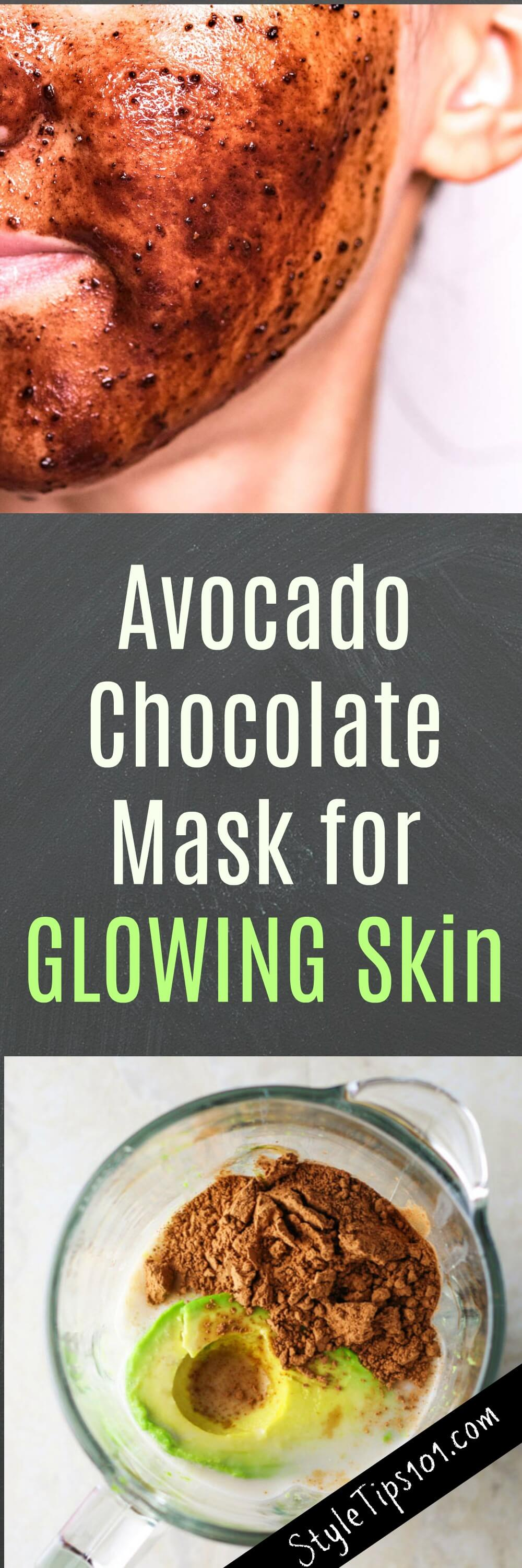 This DIY glowing face mask with cocoa & avocado will nourish and hydrate even the driest of skin and leave skin super soft and glowing.