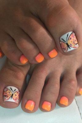 butterfly toenails