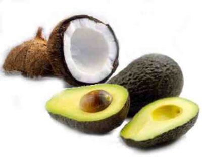 coconut oil and avocado