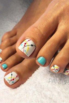 connect the dots pedicure designs