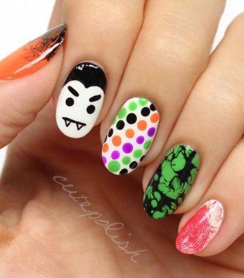 funky halloween nails