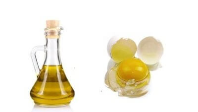 egg yolk and olive oil