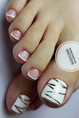 french manicure pedicure designs