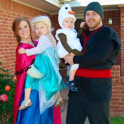 frozen family halloween costume