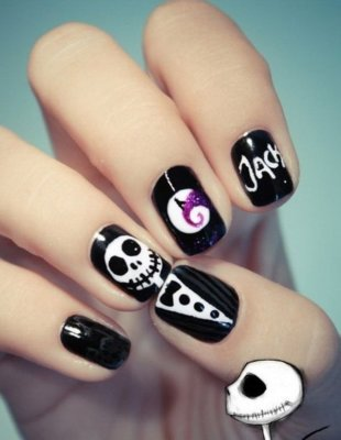jack halloween nails
