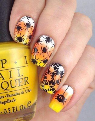 orange spider nails