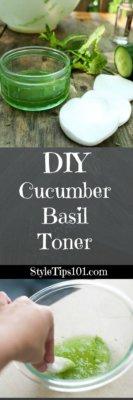 DIY Cucumber Basil Toner