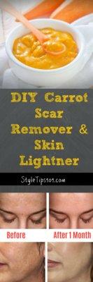 Homemade Carrot Scar Remover