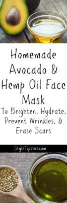 Homemade Hemp Oil Avocado Face Mask