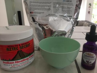 charcoal powder bentonite clay and lavender