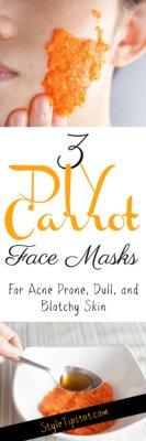 DIY Carrot Face Mask