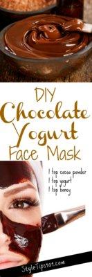 DIY Chocolate Yogurt Mask
