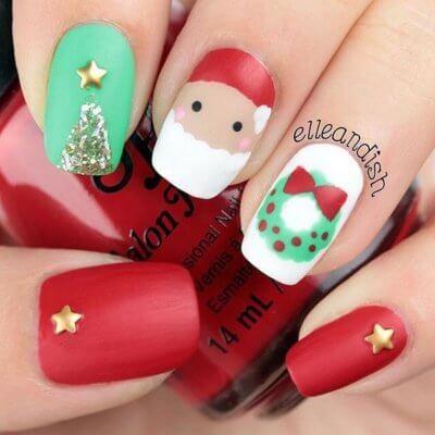 30 festive christmas nail ideas